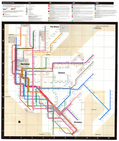 1976 Nyc Vignelli Subway Map For Sale Brooklyn Frame Works