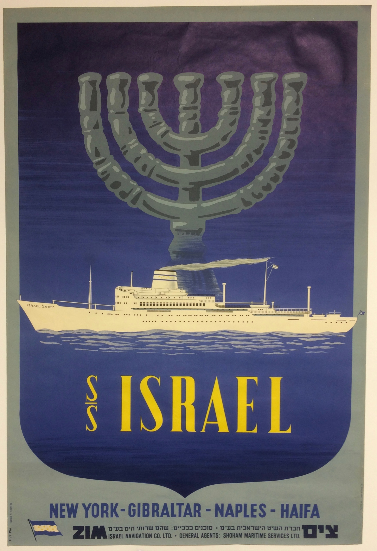 S.S. Israel- Vintage Poster