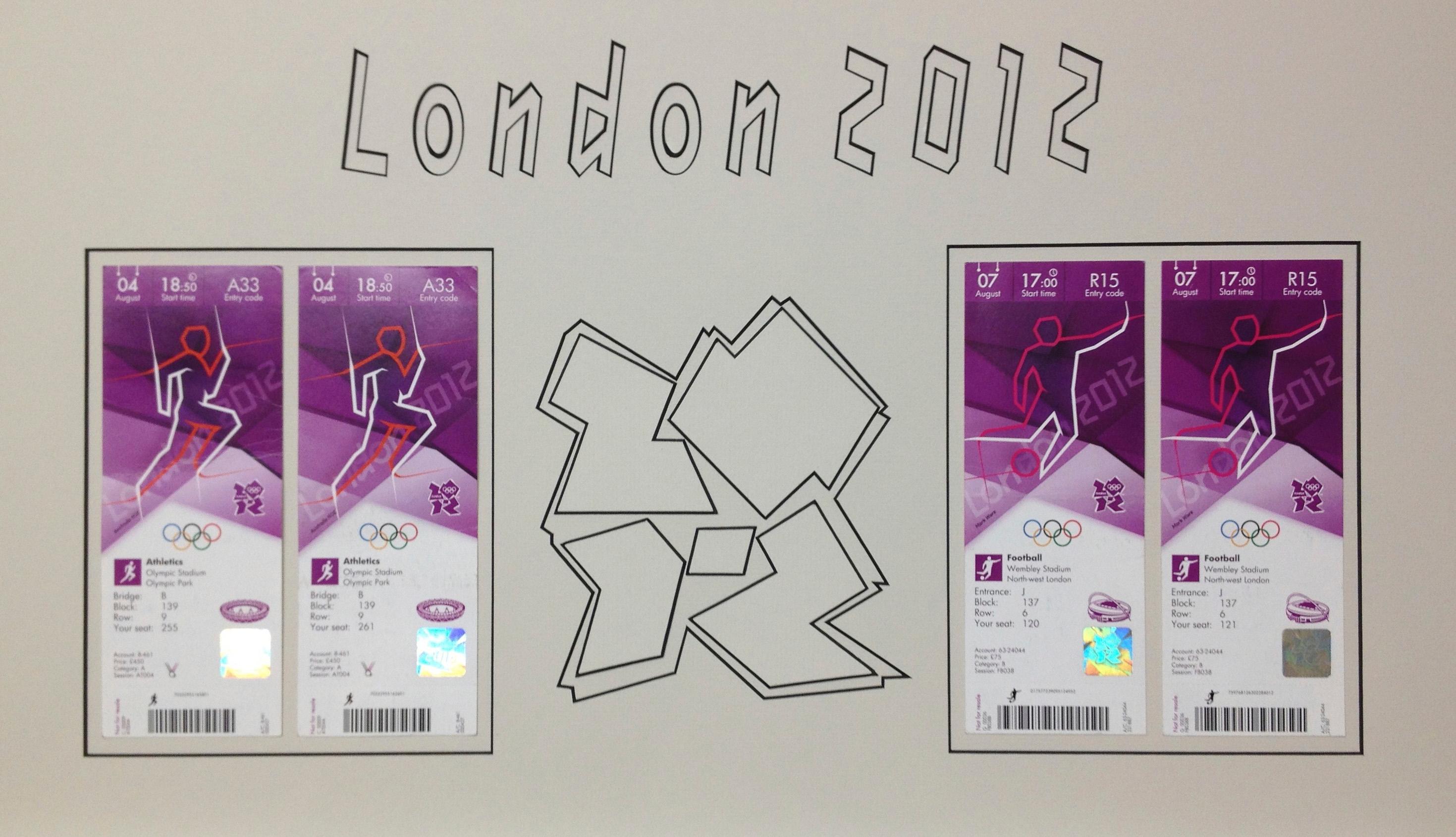 Custom-cut art for 2012 Olympics memorabilia